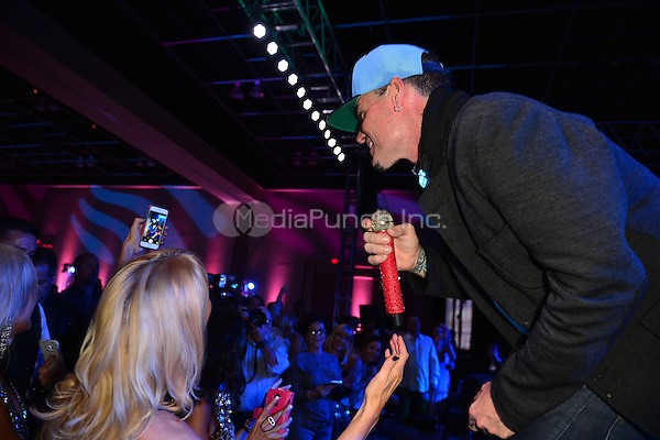 HALLANDALE BEACH, FL - NOVEMBER 13: Vanilla Ice onstage performs during the 15th annual Footys Bubbles and Bones Gala at Westin Diplomat Hotel & Resort on November 13, 2015 in Hallandale Beach, Florida. Credit: MPI10 / MediaPunch