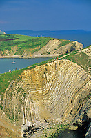 Lulworth Crumple, Folding of Sedimentary Rocks, Stair Hole, Lulworth Cove, Dorset, England, AGPix_0035.