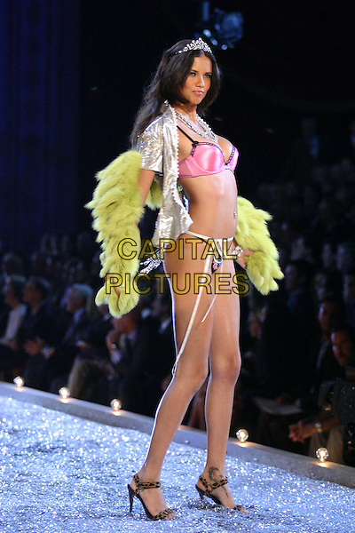 MODEL.9th Annual Victoria's Secret Fashion Show Inside.Lexington Avenue Armory.catwalk, lingerie, belly, stomach, midriff, underwear, full length, full-length, fur wrap, butterfly.www.capitalpictures.com.sales@capitalpictures.com.©Capital Pictures