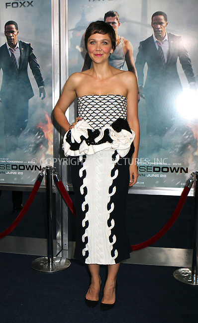 WWW.ACEPIXS.COM<br /> <br /> June 25 2013, New York City<br /> <br /> Actress Maggie Gyllenhaal at the 'White House Down' premiere at Ziegfeld Theater on June 25, 2013 in New York City<br /> <br /> By Line: Nancy Rivera/ACE Pictures<br /> <br /> <br /> ACE Pictures, Inc.<br /> tel: 646 769 0430<br /> Email: info@acepixs.com<br /> www.acepixs.com