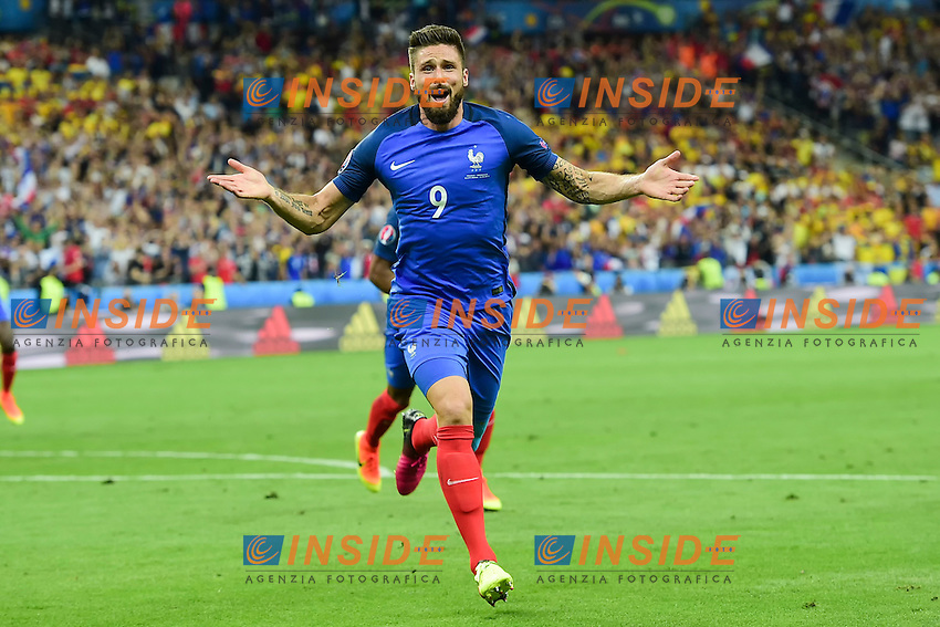 Esultanza Gol Olivier Giroud Francia Goal celebration <br /> Paris 10-06-2016 Stade de France football Euro2016 France - Romania  / Francia - Romania Group Stage Group A. Foto JB Autissier / Panoramic / Insidefoto