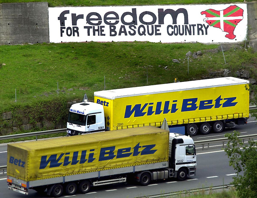 Freedom for the Basque Country paint in the Basque Country.<br /> Ander Gillenea
