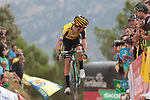 George Bennett (NZL) Team Jumbo-Visma crosses the finish line in 9th place at the end of Stage 7 of La Vuelta 2019 running 183.2km from Onda to Mas de la Costa, Spain. 30th August 2019.<br /> Picture: Colin Flockton | Cyclefile<br /> <br /> All photos usage must carry mandatory copyright credit (© Cyclefile | Colin Flockton)