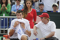 16.09.2012 Gijon, Spain Semifinals Copa Davis Esp vs USA. David Ferrer vs John Isner. Picture show John Isner during match.