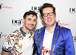 Jeremy J. King and Sam Salmond attend the reception for the 2018 Presentation of New Works by the DGF Fellows on October 15, 2018 at the Playwrights Horizons Theatre in New York City.