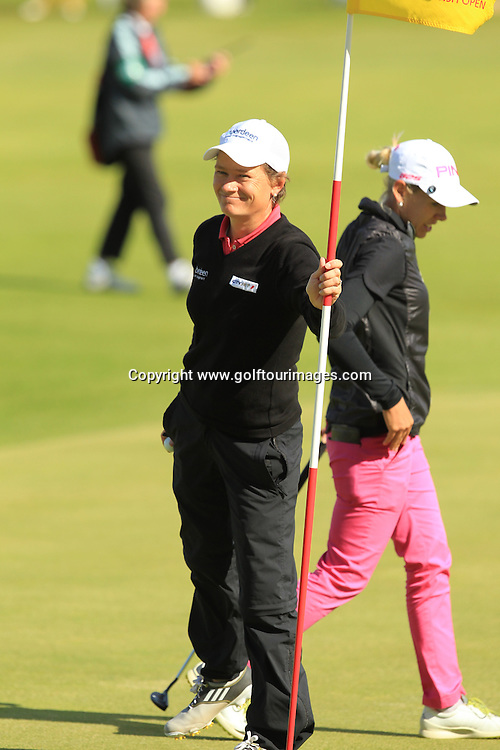 Scotland's Catriona Matthew has a birdie, eagle finish to complete her delayed round 3 of the 2013 Ricoh Women's British Open to be played over The Old Course, St Andrews, Fife, Scotland from 1st to 4th August: Picture Stuart Adams www.golftourimages.com: 4th  August 2013