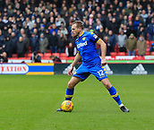 10th February 2018, Bramall Lane, Sheffield, England; EFL Championship football, Sheffield United versus Leeds United; Laurens De Bock of Leeds United moves the ball forward