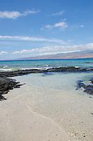 A sunny day at a beach in Puako, South Kohala, Big Island of Hawai'i.