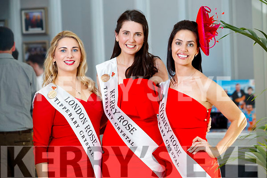London Rose, Caoimhe Gallagher, Kerry Rose, Breda O'Mahony and Sydney Rose, Aisling Walsh at the Rose Hotel, Tralee on Tuesday.