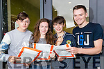 Shane Riordan (Tralee), Caoimhe Mawe (The Spa), John Carroll (Tralee) and TJ Maunsell (Abbeydorney), students from Brookfield College, Tralee, who were delighted with their Leaving Certificate results on Wednesday morning.