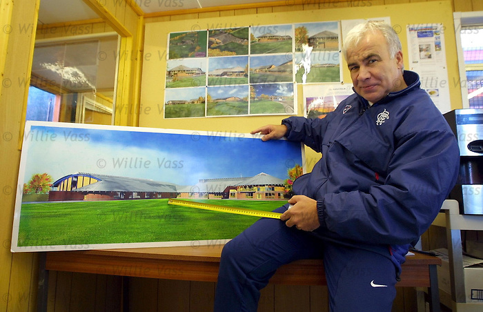 Jan Derks, Rangers youth supremo at the Auchenhowie training complex in Milngavie before its opening. Jan Derks was Dick Advocaat's appointment as youth chief and helped to mould Murray Park youngsters