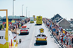 The publicity caravan rolls out before Stage 1 of the 2019 Tour de France running 194.5km from Brussels to Brussels, Belgium. 6th July 2019.<br /> Picture: ASO/Thomas Maheux | Cyclefile<br /> All photos usage must carry mandatory copyright credit (© Cyclefile | ASO/Thomas Maheux)