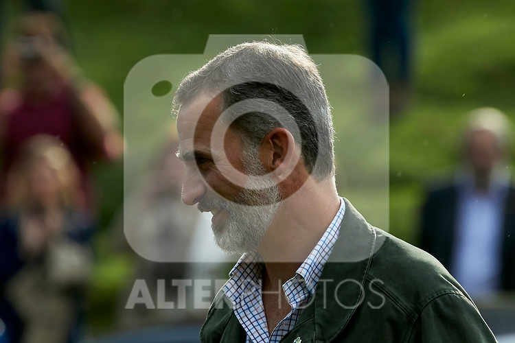 King Felipe VI of Spain visit the Enol lake in Asturias, Spain. September 08, 2018. (ALTERPHOTOS/A. Perez Meca)