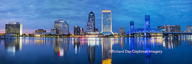 63412-01005 Jacksonville skyline at dusk, Jacksonville, FL