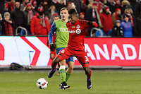 Toronto, ON, Canada - Saturday Dec. 10, 2016: Armando Cooper during the MLS Cup finals at BMO Field. The Seattle Sounders FC defeated Toronto FC on penalty kicks after playing a scoreless game.