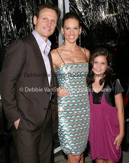 Tony Goldwyn,Hilary Swank and Bailee Madison at the Fox Searchlight Pictures held at  The Academy of Motion Picture Arts and Sciences, Samuel Goldwyn Theatre in Beverly Hills, California on October 05,2010                                                                               © 2010DVS / Hollywood Press Agency