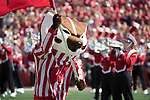 Wisconsin Badgers mascot Bucky Badger runs onto the field prior to an NCAA College Football game against the Florida Atlantic Owls Saturday, September 9, 2017, in Madison, Wis. The Badgers won 31-14. (Photo by David Stluka)