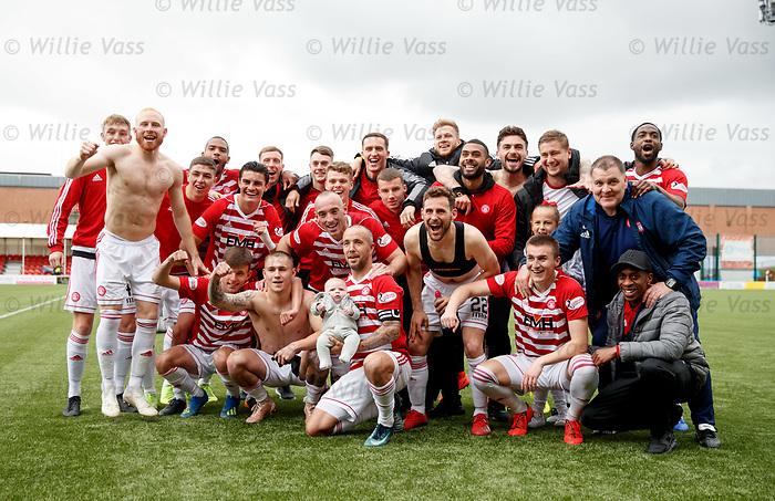 18.05.2019 Hamilton v St Johnstone: Hamilton celebrate at full time