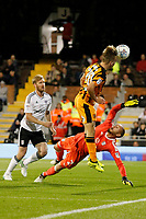 GOAL - Jarrod Bowen of Hull City heads in the leveller during the Sky Bet Championship match between Fulham and Hull City at Craven Cottage, London, England on 13 September 2017. Photo by Carlton Myrie.