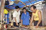 Halong-Vietnam, Ha Long - Viet Nam - 23 July 2005---Meeting and activity of a local Youth Union group 'model making of traditional fishing boats', under the auspices of UNV-UNESCO and supervision of a local 'National United Nations Volunteer' (NUNV)---culture, education, people---Photo: Horst Wagner/eup-images
