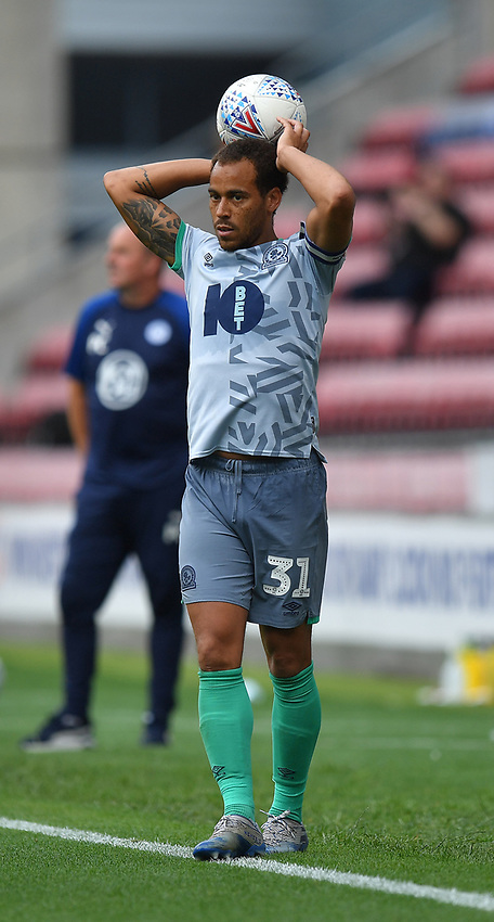 Blackburn Rovers' Elliott Bennett<br /> <br /> Photographer Dave Howarth/CameraSport<br /> <br /> The EFL Sky Bet Championship - Wigan Athletic v Blackburn Rovers - Saturday 27th June 2020 - DW Stadium - Wigan<br /> <br /> World Copyright © 2020 CameraSport. All rights reserved. 43 Linden Ave. Countesthorpe. Leicester. England. LE8 5PG - Tel: +44 (0) 116 277 4147 - admin@camerasport.com - www.camerasport.com