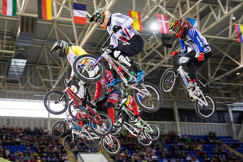10.04.2016. National Cycling Centre, Manchester, England. UCI BMX Supercross World Cup Finals. Federico Villegas.