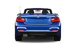Straight rear view of a 2015 BMW 2 Series 228i 2 Door Convertible Rear View  stock images