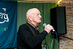 Listowel Writers Week: Donal O'Connor, Tarbert reciting his poems at Poet's Corner in Christy's Bar on Friday night last.