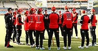 1st November 2019; Western Australia Cricket Association Ground, Perth, Western Australia, Australia; Womens Big Bash League Cricket, Perth Scorchers versus Melbourne Renegades; Tim Coyle head coach of the Melbourne Renegades talks with his players before the start of the match