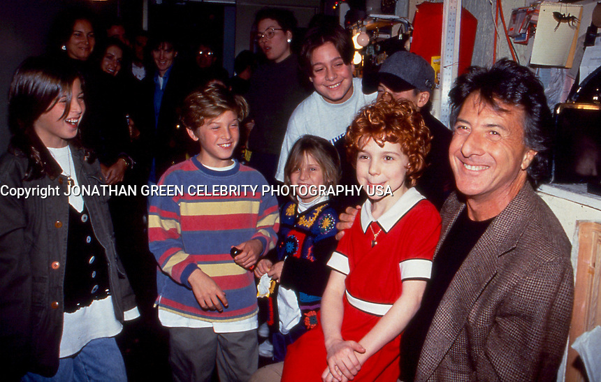 Dustin Hoffman & Family attend performance of Annie. By Jonathan Green