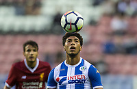 Josh Laurent of Wigan Athletic during the pre season friendly match between Wigan Athletic and Liverpool at the DW Stadium, Wigan, England on 14 July 2017. Photo by Andy Rowland.