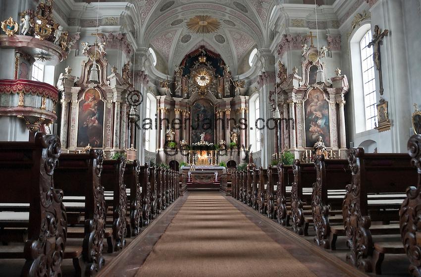 Austria, Tyrol, St. Johann in Tyrol: parish church Mary Ascension, indoor