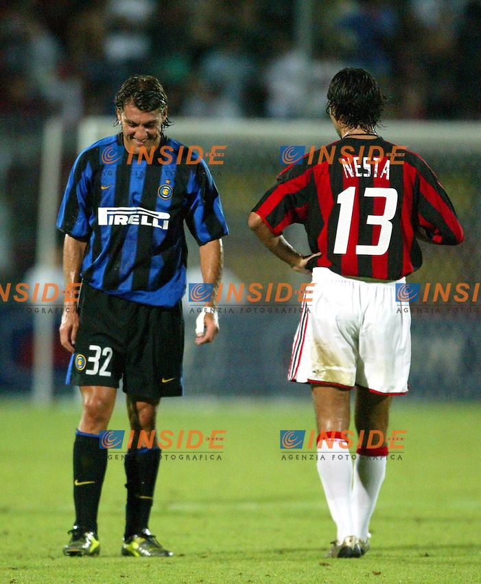 Ancona 12/08/2003<br /> Trofeo Tim - Tim Cup <br /> Alessandro Nesta e Christian Vieri