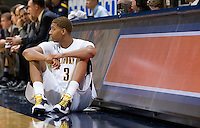 Richard Solomon of California waits to play during the game against UC Irvine at Haas Pavilion in Berkeley, California on November 11th, 2011.  California defeated UC Irvine, 77-56.