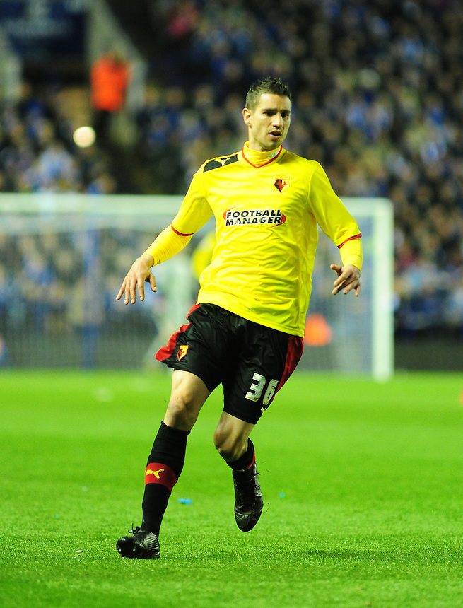 Watford's Alexandre Geijo .. - (Photo by Chris Vaughan/CameraSport) - ..Football - npower Football League Championship Play-Offs Semi-Final First Leg - Leicester City v Watford - Thursday 9th May 2013 - King Power Stadium - Leicester..© CameraSport - 43 Linden Ave. Countesthorpe. Leicester. England. LE8 5PG - Tel: +44 (0) 116 277 4147 - admin@camerasport.com - www.camerasport.com
