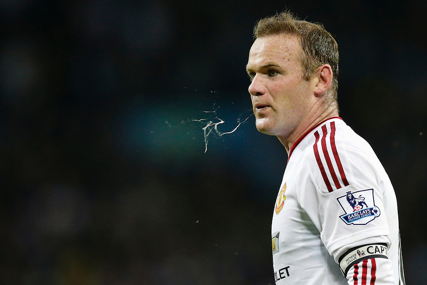 Manchester United's Wayne Rooney during tonight's match<br /> <br /> Photographer Craig Mercer/CameraSport<br /> <br /> Football - Barclays Premiership - Aston Villa v Manchester United - Friday 14th August 2015 - Villa Park - Birmingham<br /> <br /> &copy; CameraSport - 43 Linden Ave. Countesthorpe. Leicester. England. LE8 5PG - Tel: +44 (0) 116 277 4147 - admin@camerasport.com - www.camerasport.com