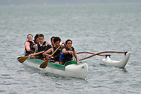 Hutt Secondary Schools Junior Waka ama Sprint Competition at Hoikoikoi, Lower Hutt, New Zealand on Saturday 17th November 2012<br />