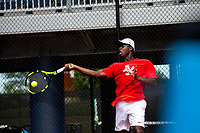 The Liberty Flames Men's Tennis Team hosted an Invitational Tournament at the Cook Tennis Courts on September 28 , 2018. (Photo by Kevin Manguiob)