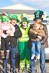 SUNSHINE; Enjoying the Ballyheigue St Patrick's Day parade on a sunny Monday were L-r: Jessica O'Grady,Donal O'Regan,John O'Regan,David and Gerard O'Grady(Ballyheigue).....   Copyright Kerry's Eye 2008