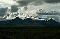 Clouds over the tundra along the Denali Highway, Alaska.