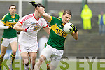 Stephen O'Brien, Kerry in action against \t27\ Tyrone in the fourth round of the National Football league at Fitzgerald Stadium, Killarney on Sunday.