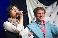 Joelle TOUZE et Stephane ROCABOY, organisateur du fest-noz