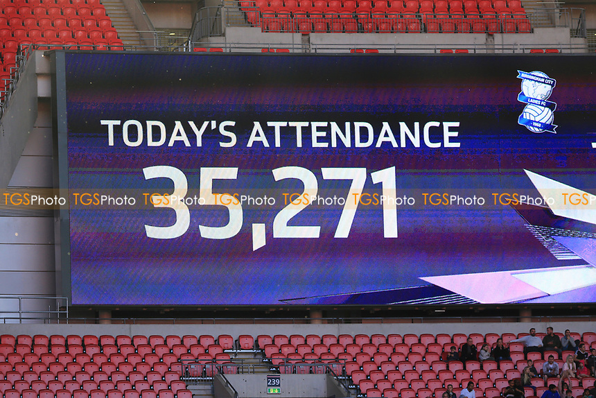 The attendance of Birmingham City Ladies vs Manchester City Women, SSE Women's FA Cup Final Football at Wembley Stadium on 13th May 2017