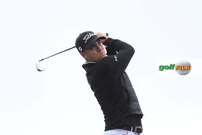 Justin Thomas (USA) on the 4th tee during the final round of the Waste Management Phoenix Open, TPC Scottsdale, Scottsdale, Arisona, USA. 03/02/2019.<br /> Picture Fran Caffrey / Golffile.ie<br /> <br /> All photo usage must carry mandatory copyright credit (&copy; Golffile | Fran Caffrey)