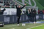 01.12.2019, Volkswagen Arena, Wolfsburg, GER, 1.FBL, VfL Wolfsburg vs SV Werder Bremen<br /> <br /> DFL REGULATIONS PROHIBIT ANY USE OF PHOTOGRAPHS AS IMAGE SEQUENCES AND/OR QUASI-VIDEO.<br /> <br /> im Bild / picture shows<br /> Florian Kohfeldt (Trainer SV Werder Bremen) zum Spielende, <br /> <br /> Foto © nordphoto / Ewert
