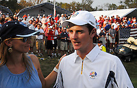European player Justin Rose on the 17th green after losing the Singles on the Final Day of the Ryder Cup at Valhalla Golf Club, Louisville, Kentucky, USA, 21st September 2008 (Photo by Eoin Clarke/GOLFFILE)