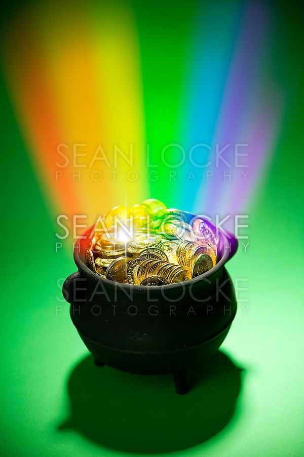 Series with a cauldron holding riches.  Good for St. Patrick's Day holiday or other money related concepts.