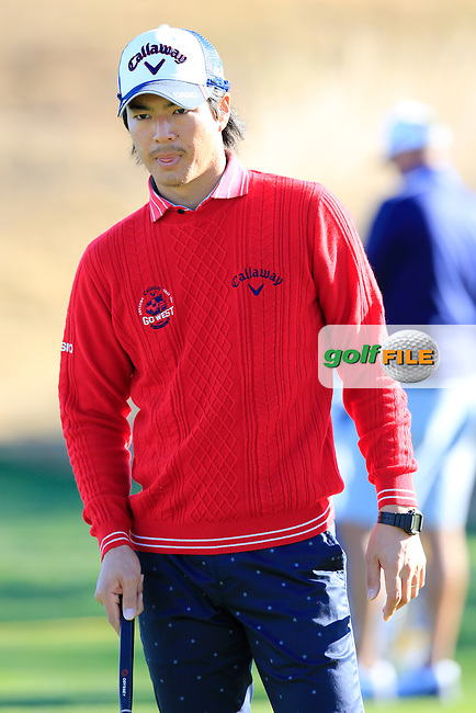 Ryo Ishikawa (JPN) on the range during Saturday's Round 3 of the 2017 CareerBuilder Challenge held at PGA West, La Quinta, Palm Springs, California, USA.<br /> 21st January 2017.<br /> Picture: Eoin Clarke | Golffile<br /> <br /> <br /> All photos usage must carry mandatory copyright credit (&copy; Golffile | Eoin Clarke)