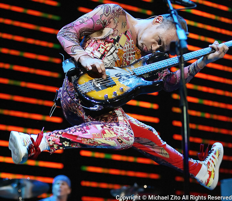 August 31, 2006: Flea and the Red Hot Chili Peppers during a performance at the Forum