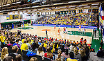 S&ouml;dert&auml;lje 2015-11-21 Basket EM-kval Sverige - Spanien :  <br /> Vy &ouml;ver T&auml;ljehallen med publik p&aring; l&auml;ktarna under matchen mellan Sverige och Spanien <br /> (Foto: Kenta J&ouml;nsson) Nyckelord:  T&auml;ljehallen Basket Landslag Landslaget Dam Damer Dambasket Dambasketlandslaget Basketlandslaget Sverige Sweden Svenska EM Kval EM-kval Spanien Spain Spanska supporter fans publik supporters inomhus interi&ouml;r interior